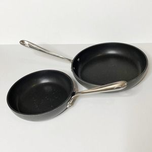 All-Clad Frying Pan Set Non Stick 8 inch 10 inch